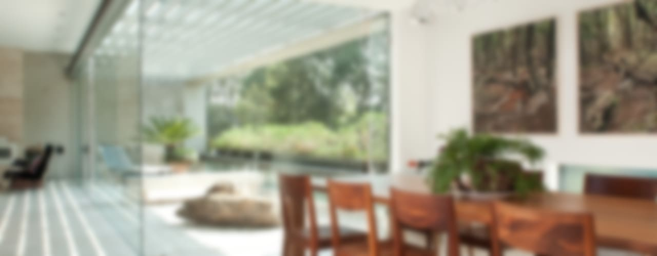 Polanco Penthouse Modern Dining Room by Gantous Arquitectos Modern