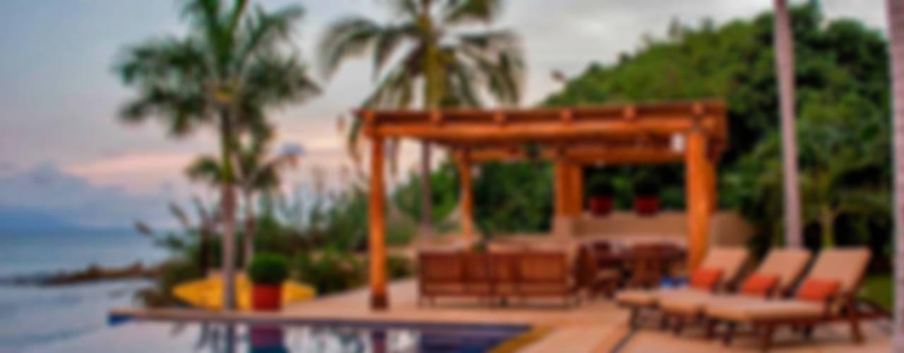 Villa Farallón 14 Albercas tropicales de BR ARQUITECTOS Tropical