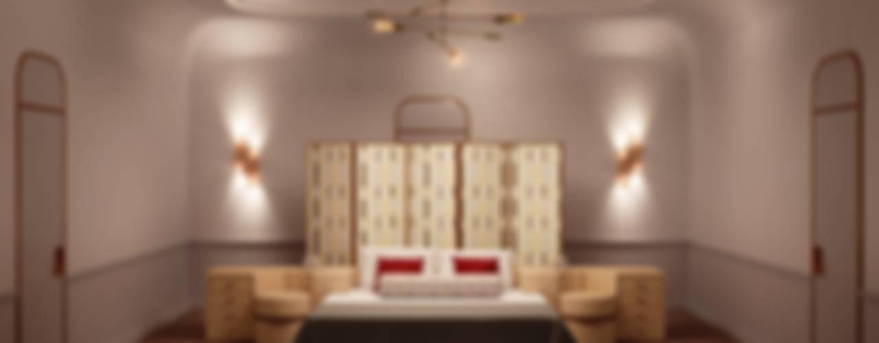 Золотая миля: Спальни в . Автор – Line In Design, Эклектичный