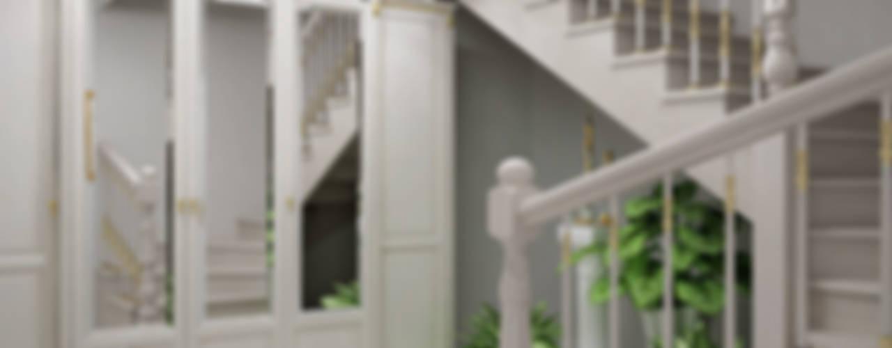 Частный дом Коридор, прихожая и лестница в классическом стиле от Частный дизайнер Классический