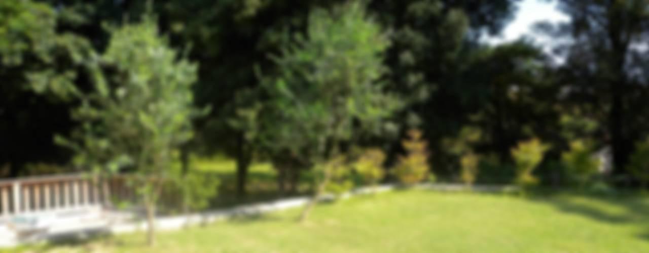 公園のはなれ庭: 篠田 望デザイン一級建築士事務所が手掛けた素朴なです。,ラスティック