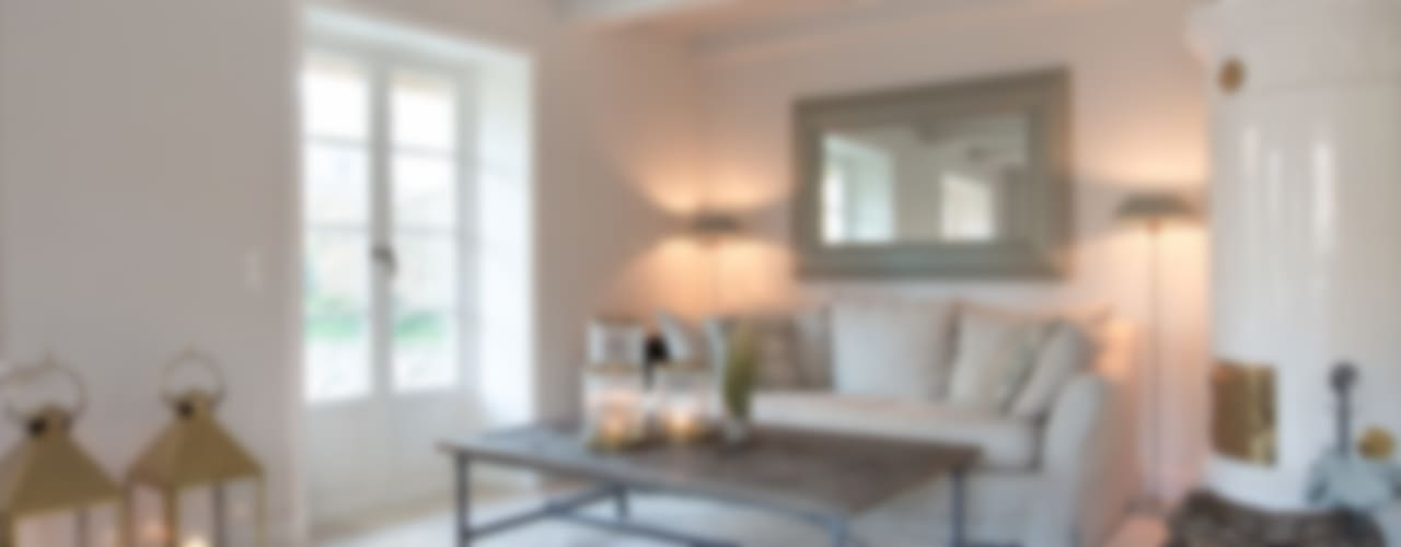 Wiejski salon od Immofoto-Sylt Wiejski