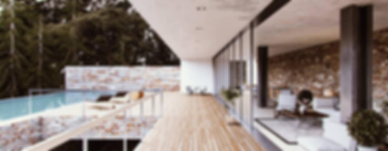 WHITE ROOM DESIGN – Exterior Home Visualization:  tarz Teras