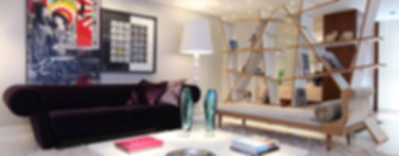 Гостиная в . Автор – Rodrigo Maia Arquitetura + Design