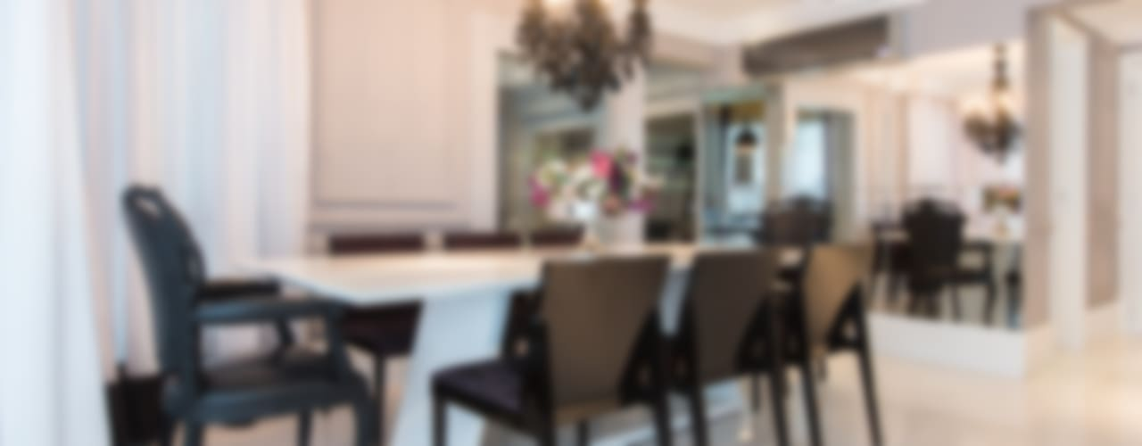 Apartamento P|B Salas de jantar modernas por Lodo Barana Arquitetura e Interiores Moderno