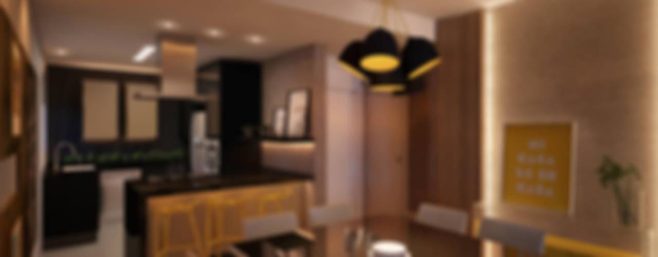 LIVINGS Salas de estar modernas por CASA DE PROJETOS Moderno
