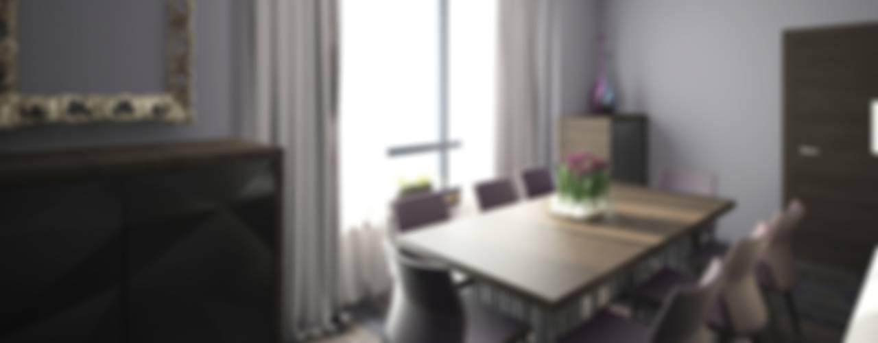 Фиолетовые нюансы Гостиные в эклектичном стиле от PichuginaDesign Эклектичный
