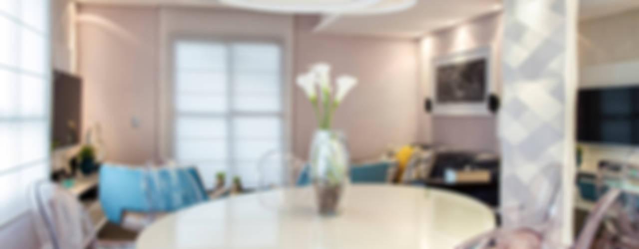 Apartamento Chácara Klabin (SP) Salas de jantar modernas por Amanda Pinheiro Design de interiores Moderno