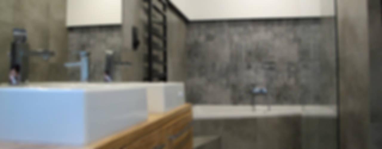 dom pełen betonu: styl , w kategorii Łazienka zaprojektowany przez Projekt Kolektyw Sp. z o.o.,Minimalistyczny