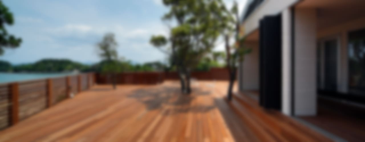 Modern Balkon, Veranda & Teras 一級建築士事務所 増田寿史建築事務所 Modern