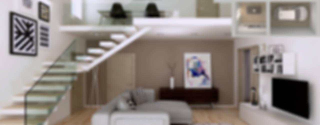 Modern living room by RenderLab Modern
