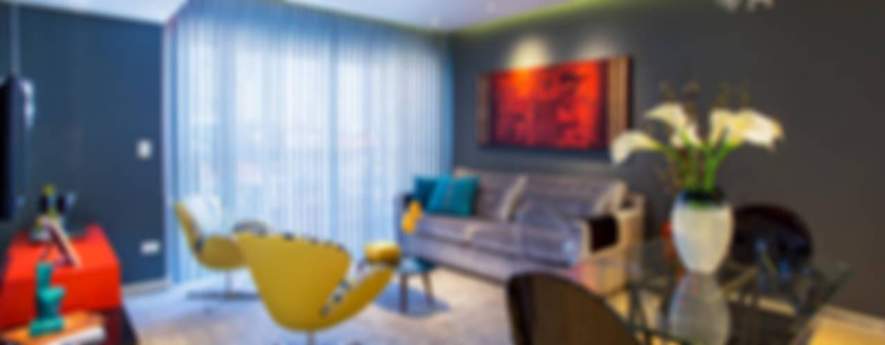 Apartamento  Mooca: Salas de estar  por Lo. interiores