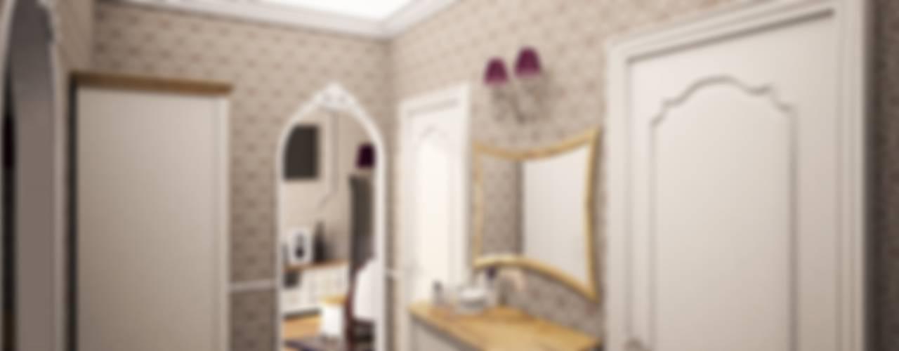 1-но комнатная квартира 61.15m² Коридор, прихожая и лестница в классическом стиле от PLANiUM Классический