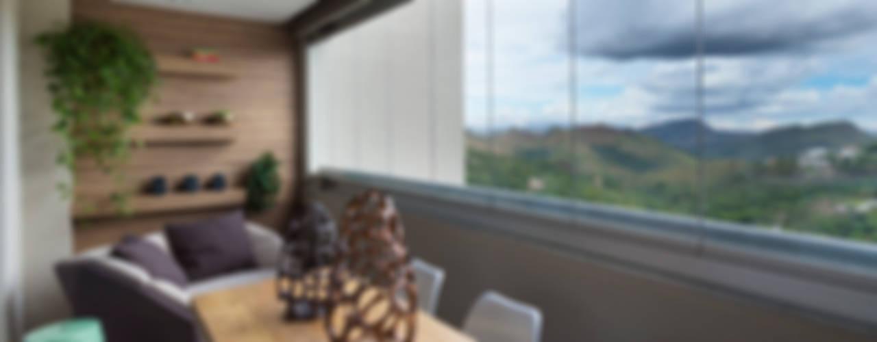 Apartamento AL Varandas, alpendres e terraços tropicais por Haruf Arquitetura + Design Tropical