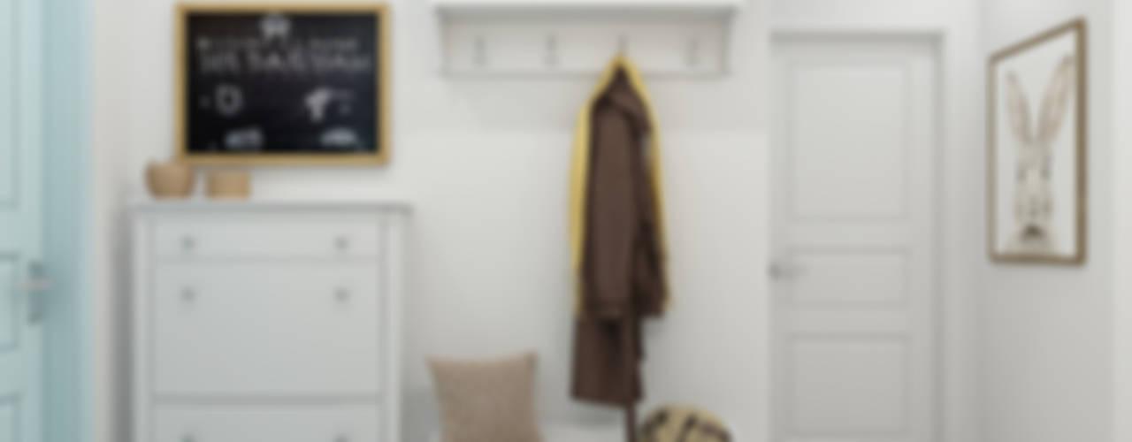 Scandinavische gangen, hallen & trappenhuizen van Ekaterina Donde Design Scandinavisch