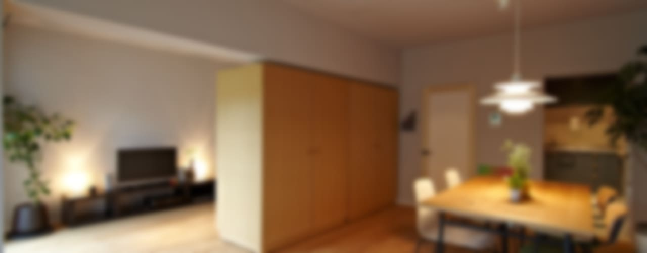 多摩センターの家/東京のリノベーション モダンデザインの リビング の 山田伸彦建築設計事務所 モダン