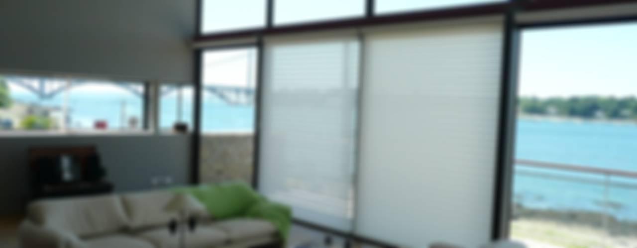 Maison à Plougastel (Finistère) Salon moderne par Atelier de l'Ile Moderne