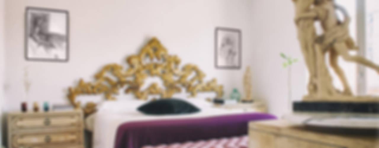 Camera d'oro Bianca Coggi Architetto Camera da letto eclettica