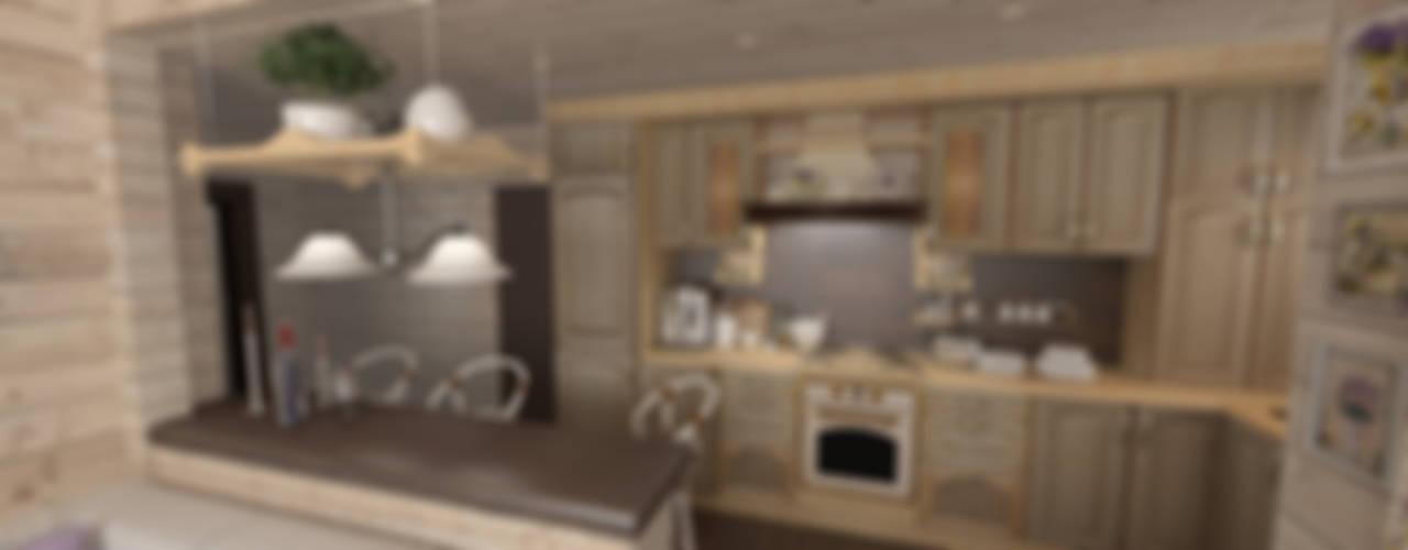Гостевой домик в стиле Прованс Кухня в стиле кантри от Artscale Кантри