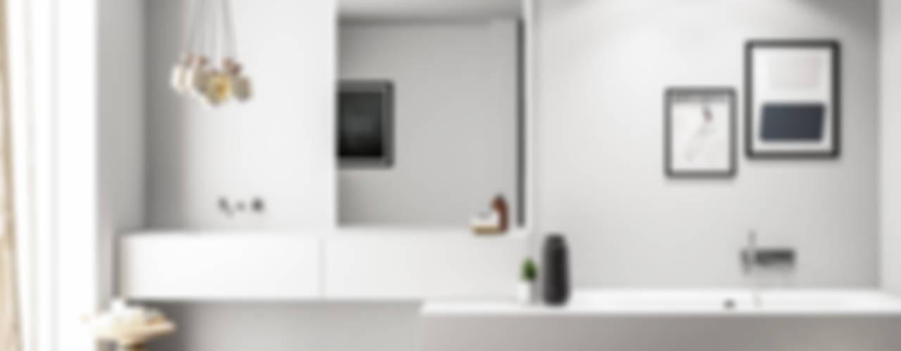 SMART progetto 1 Bagno in stile scandinavo di Nova Cucina Scandinavo