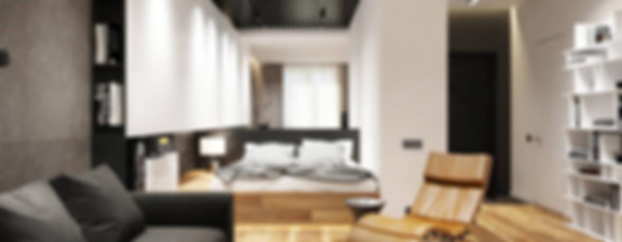 Студия для холостяка: Гостиная в . Автор – Y.F.architects