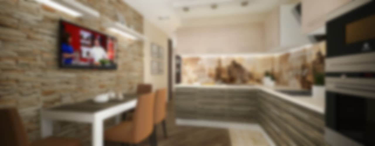 Из двухкомнатной в трехкомнатную. Проект квартиры в Балашихе.: Кухни в . Автор – дизайн-бюро ARTTUNDRA, Минимализм