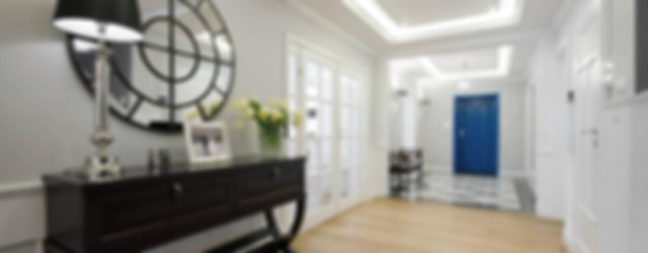 Dom w Wilanowie Nowoczesny korytarz, przedpokój i schody od 3deko Nowoczesny