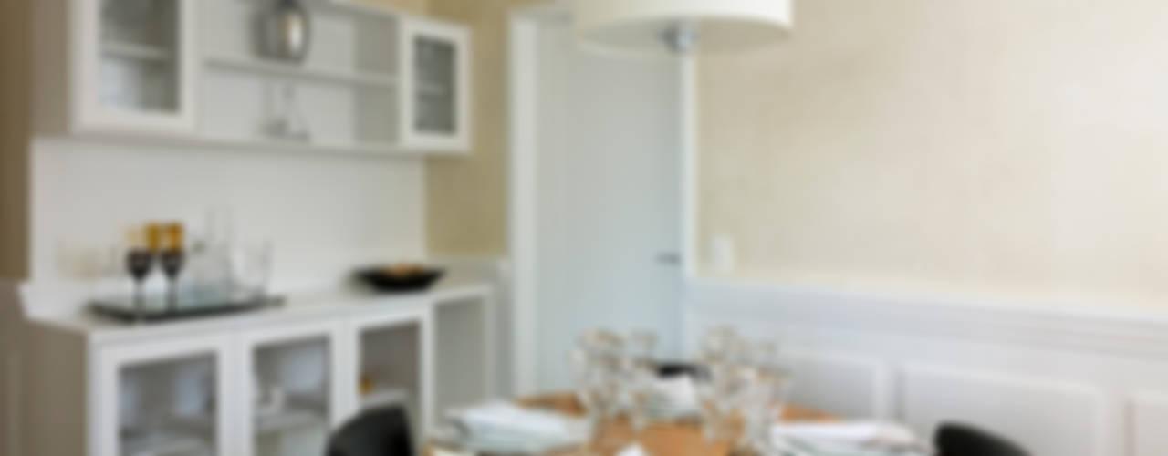 GRAN PARC VILA NOVA: Salas de jantar  por GUSTAVO GARCIA ARQUITETURA E DESIGN