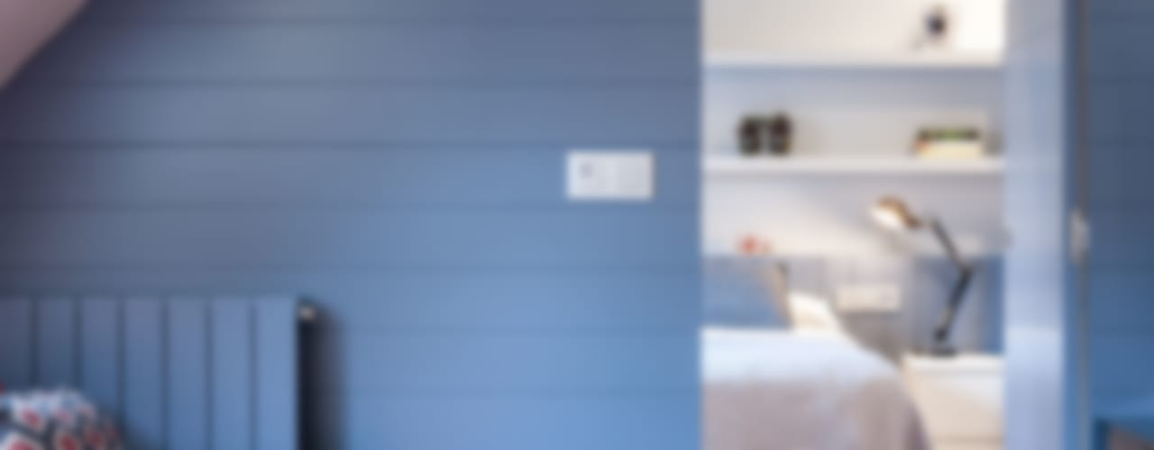 Apartamento 45m2 en el Ensanche de Bilbao Urbana Interiorismo Dormitorios de estilo moderno