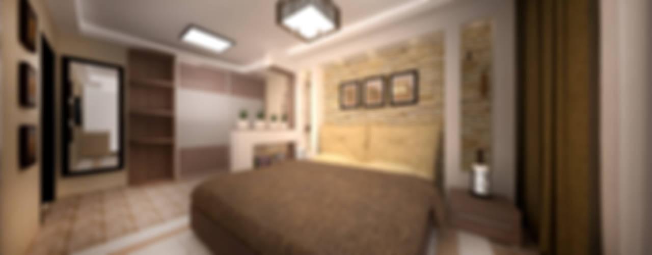 غرفة نوم تنفيذ дизайн-бюро ARTTUNDRA