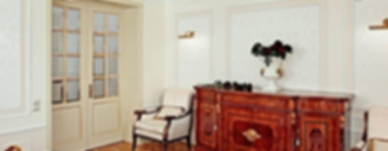 Принцип семейного совета Гостиная в классическом стиле от AR-KA architectural studio Классический