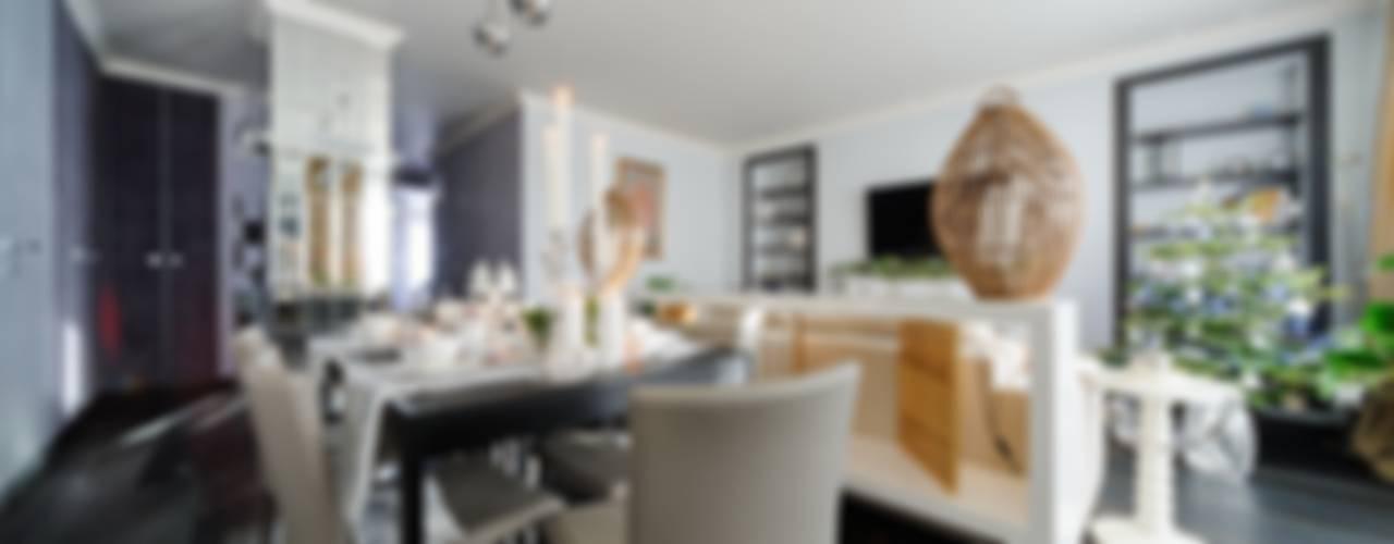 """Апартаменты в ЖК """"Маяк"""" г. Минск: Столовые комнаты в . Автор – Angelika Moroz interior design ,"""