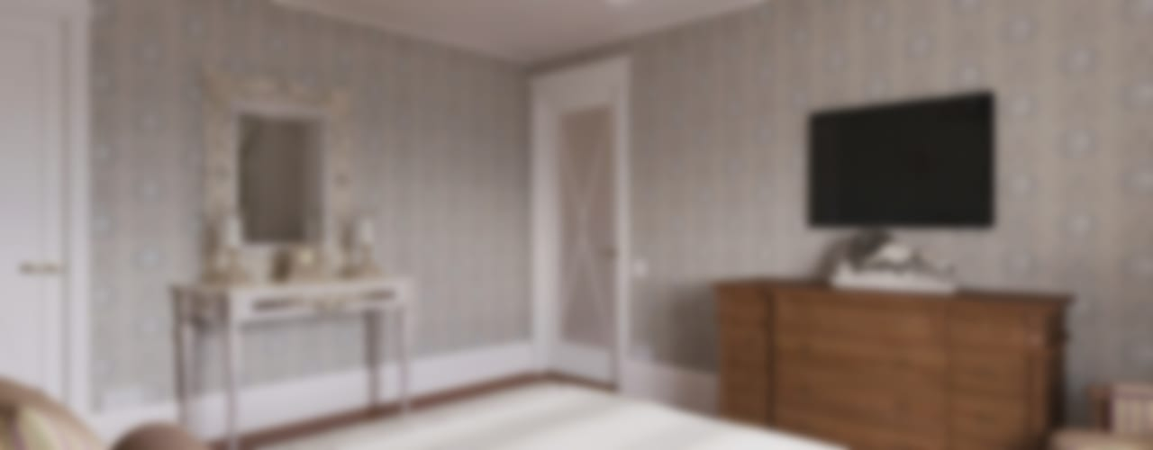 Визуализация интерьера спальни. Автор проекта Надежда Штрымова.: Спальни в . Автор – Aleksandra  Kostyuchkova, Классический