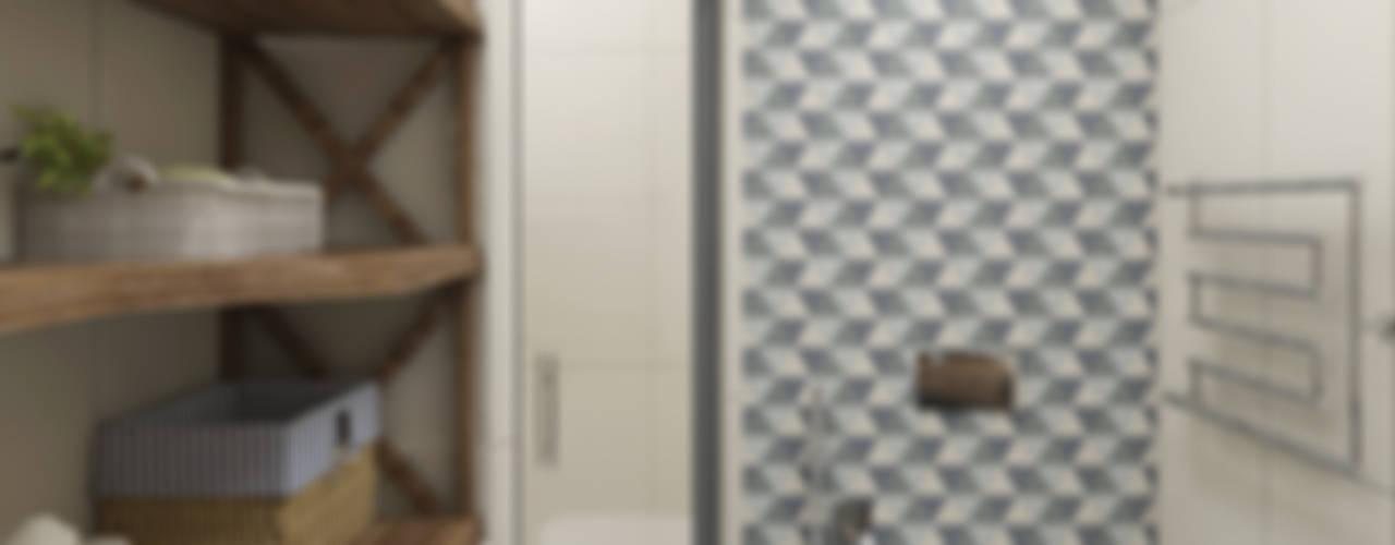 Скандинавский лес: Ванные комнаты в . Автор – EEDS дизайн студия Евгении Ермолаевой