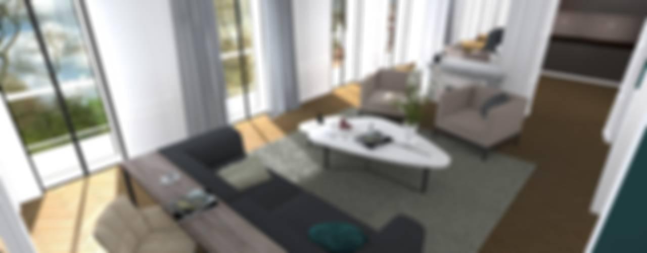 Rénovation d'un appartement à Lyon Salon moderne par A.S Garde architecte d'intérieur Moderne