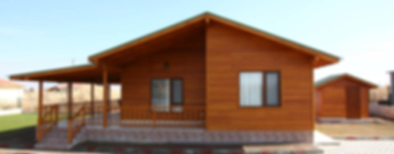 Kuloğlu Orman Ürünleri – AHSB - AHŞAP EV MODEL B:  tarz Prefabrik ev, Modern
