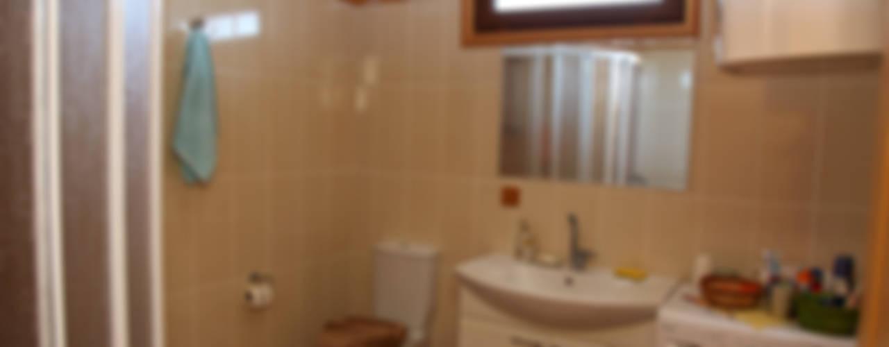 Kuloğlu Orman Ürünleri – AHSB - AHŞAP EV MODEL B:  tarz Banyo,