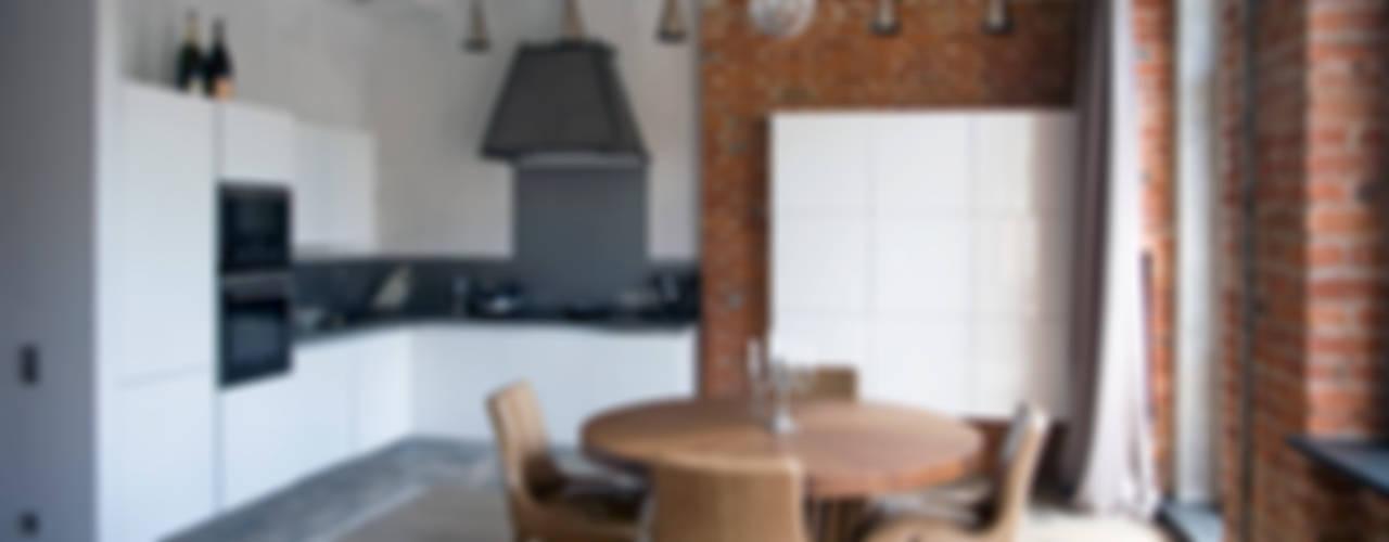 Частная квартира, г. Москва, ул. Большой Кисловский переулок (м. Арбат/Боровицкая) Кухня в стиле лофт от Дизайн-студия интерьера 'ART-B.O.s' Лофт