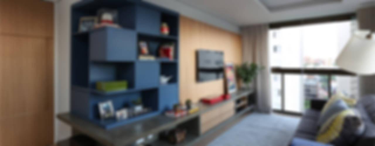 Cobertura - Pinheiros Salas de estar modernas por MANDRIL ARQUITETURA E INTERIORES Moderno
