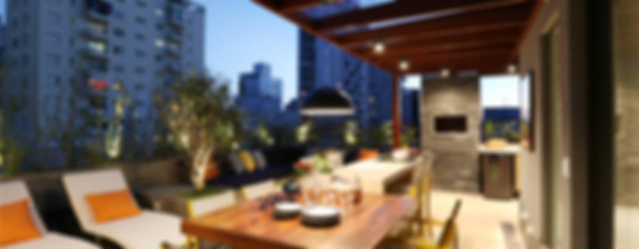 Balcon, Veranda & Terrasse modernes par MANDRIL ARQUITETURA E INTERIORES Moderne