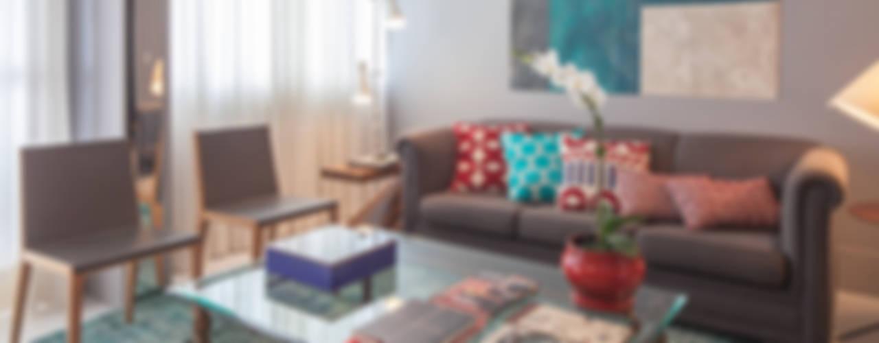 Apartamento 303 Salones de estilo moderno de Estúdio Barino | Interiores Moderno