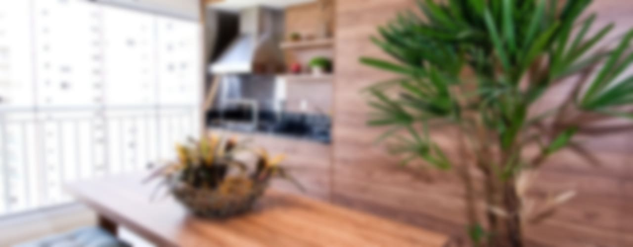 FB_Móoca 240m² Varandas, alpendres e terraços modernos por Cavalcante Ferraz Arquitetura / Design Moderno