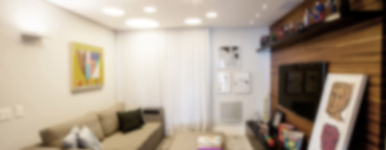 Salas multimedia de estilo moderno por Casa 2 Arquitetos