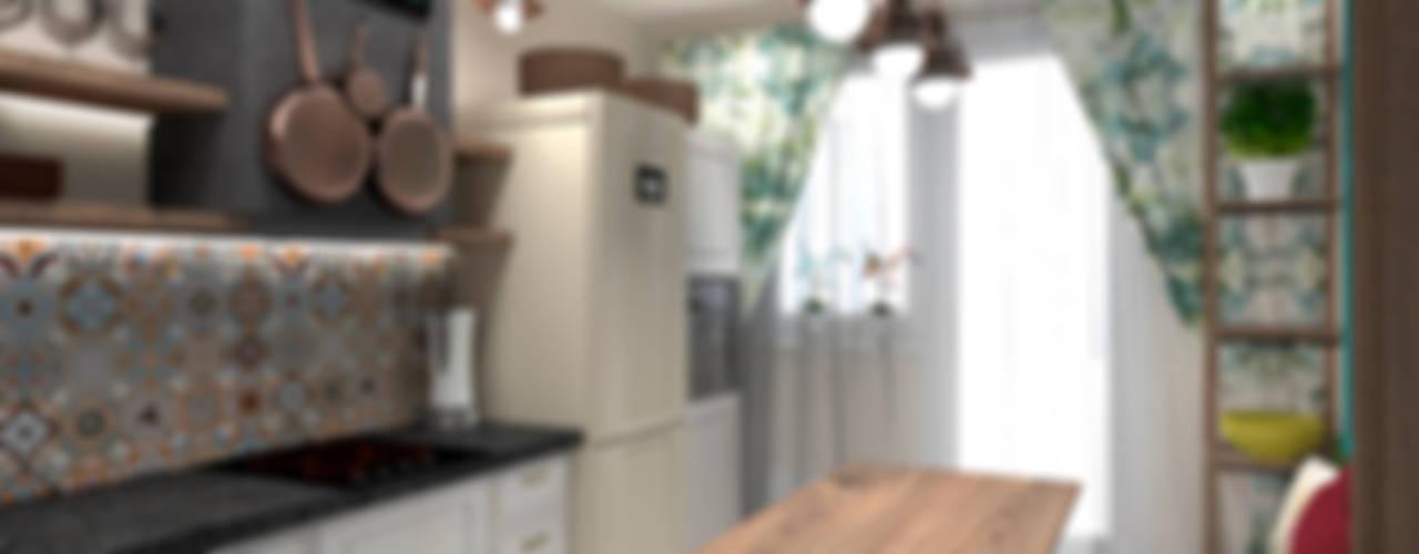 Дизайн-проект кухни в стиле прованс для телепрограммы на канале ТНТ от Дизайн-студия HOLZLAB Кантри