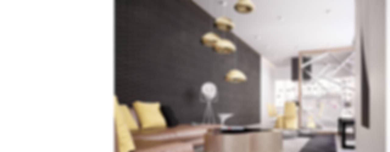 Pine HOUSE Гостиная в стиле модерн от Aksenova&Gorodkov project Модерн