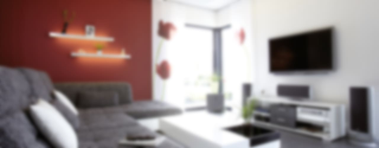 EIN HAUS ZUM WOHLFÜHLEN - frei geplantes Kundenhaus Moderne Wohnzimmer von FingerHaus GmbH - Bauunternehmen in Frankenberg (Eder) Modern