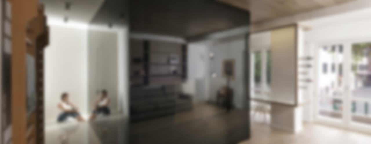 CUBE HOUSE Soggiorno minimalista di Mohamed Keilani Interiors Minimalista