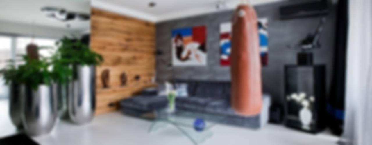 ART. – SPORT – RELAX Warszawa - mieszkanie 90 m2 Nowoczesny salon od TG STUDIO Nowoczesny