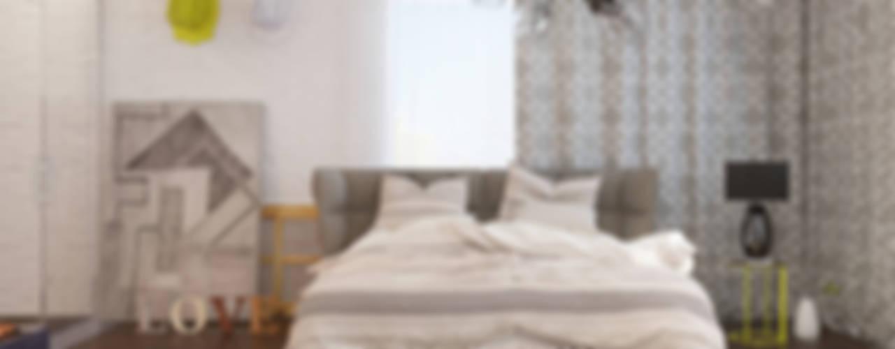 Camera da letto in stile scandinavo di Tatiana Shishkina Scandinavo