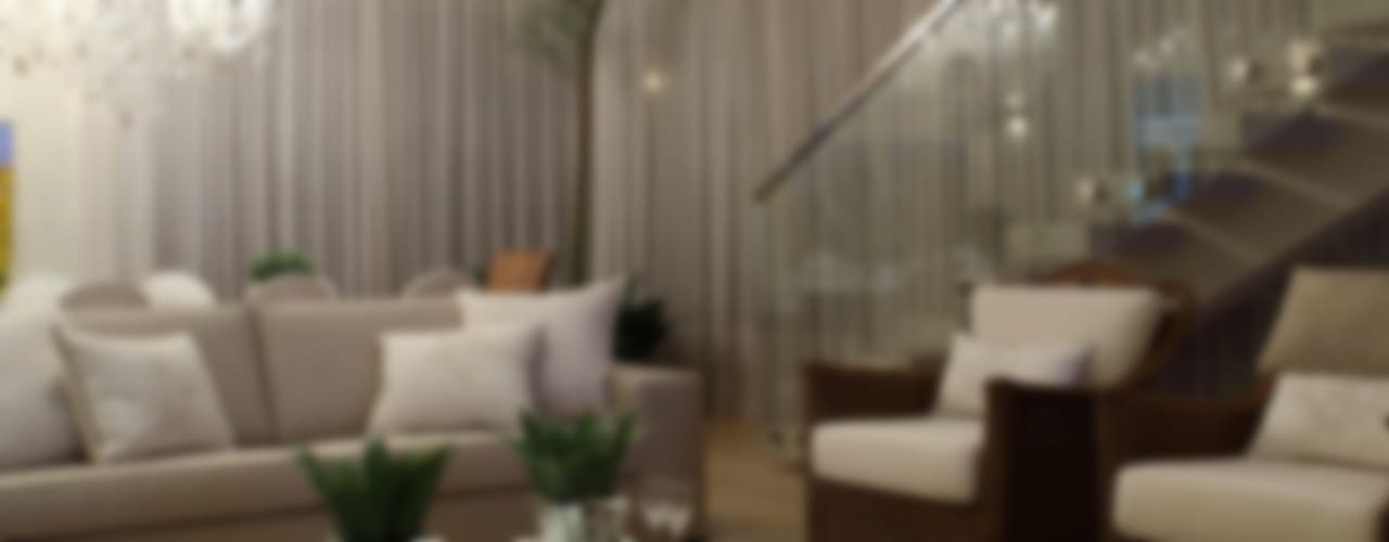 Living room by Ana Paula e Sanderson Arquitetura